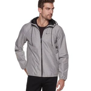 Marc Anthony Slim-Fit Textured Hooded Rain Jacket
